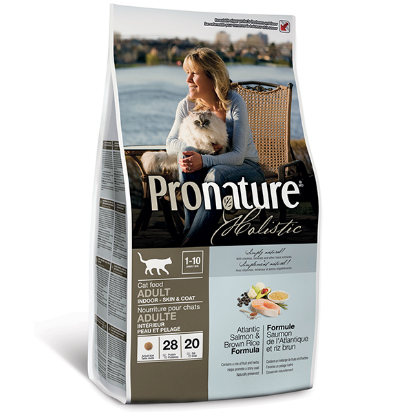 Pronature Holistic Adult Indoor Skin & Coat уход за шерстью