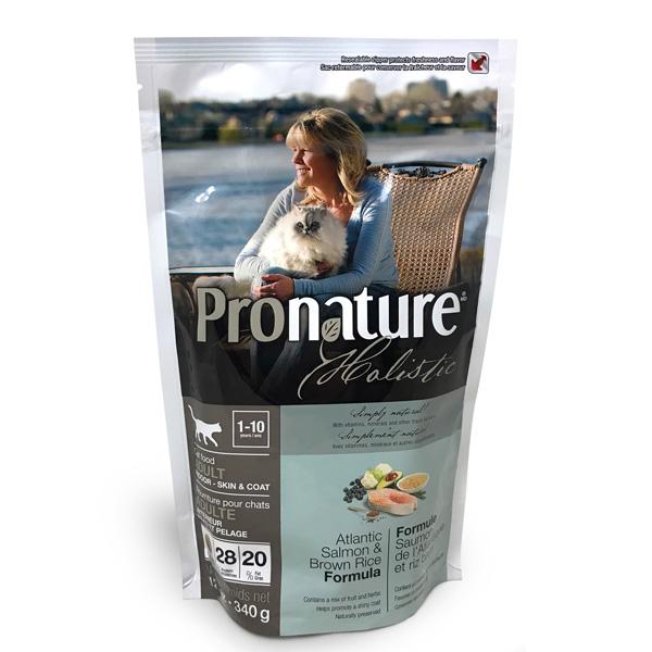340 г Pronature Holistic Adult Atlantic Skin & Coat уход за кожей и шерстью для взрослых кошек