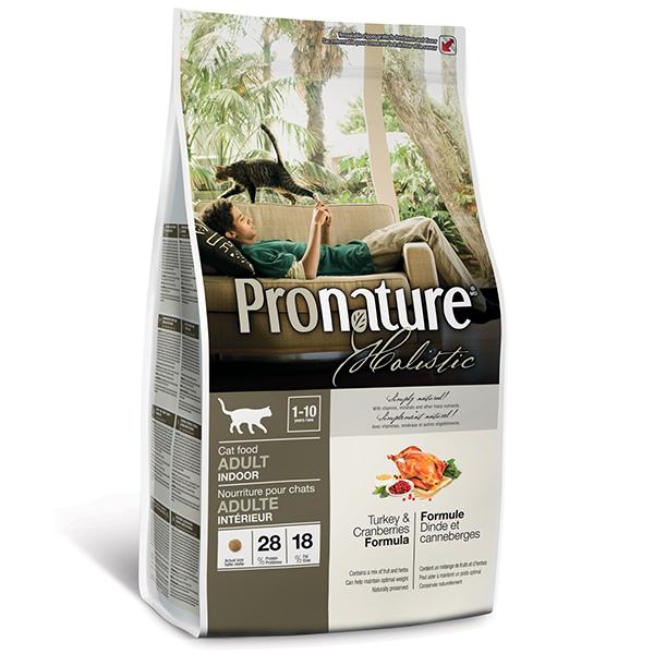2,72 кг Pronature Holistic Adult Turkey&Cranberries для взрослых домашних кошек